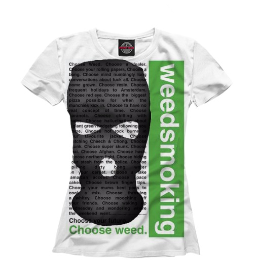 Женская футболка weedsmoking