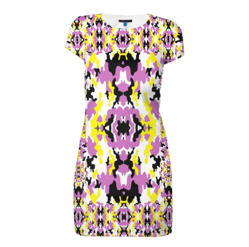 Платье с коротким рукавом Glam