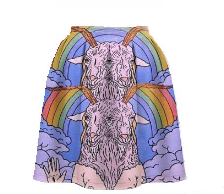 Юбка-солнце rainbow